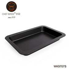 Chefmade Rectangle Oblong Brownies Cake Baking Pan Tray Carbon Steel