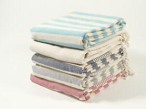 FAIRY Turkish Towel Peshtemal Bath SPA Beach Hammam 100% Cotton