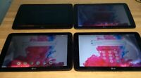 Lot of 4 LG VK700 G Pad 10.1 inches 16GB Verizon 4G Android Tablet Black