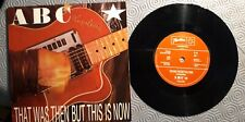 ABC That Was Then This Is Now 45 rpm Vinyl Single Picture Sleeve