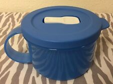 Tupperware Crystalwave Soup Mug Microwave Blue 2 Cups New
