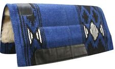 "32""x34"" BLUE Wool Top Western Cutter Style Saddle Pad w/ Navajo Design! NEW!!"