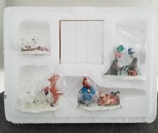 Hawthorne Village Rudolph's Christmas Town Animal Friends Accessory Set New NR!