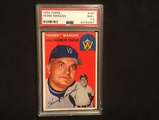 1954 Topps #187 Heine Manush psa 7.5