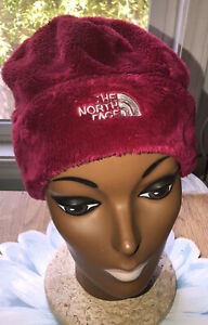 Unisex THE NORTH FACE Berry colored Osito Fleece Beanie, One Size