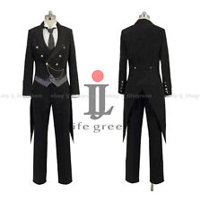 Black Butler 2 Kuroshitsuji Sebastian Sebastian Michaelis Cosplay Costume
