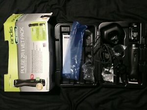 Andis Pulse ZR II CORDLESS Clipper KIT and 2 BATTERYs CeramicEdge BLADE,CASE