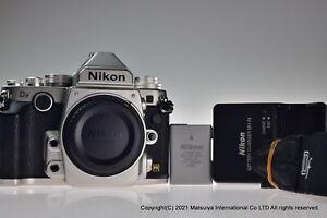 ** Near MINT ** NIKON Df 16.2MP Digital Camera Body Silver Shutter Count 7098