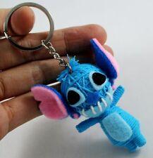 Blue Stitch Voodoo Keychain Key Ring Handmade Handcraft Doll String Gift Cute