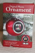 Digital Photo Picture Image Christmas Tree Ornament Mac & Windows Compat + Stand