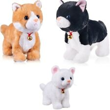 Soft Plush Cat Stuffed Toy Electronic Robot Animal Cute Lovely Kitty for Kids