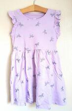 🦄 BNWT H&M Purple Glitter Unicorn Pattern Dress 6-8 Years 6-7 7-8 Post Next Day