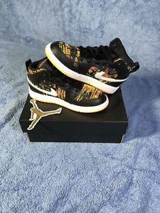 "Size 11c (ps) - Nike Jordan 1 Mid ""Black, Laser Orange"""