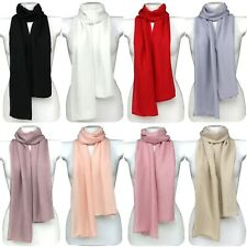 Classic Plain Long Soft Viscose Versatile Scarf Wrap Hijab Sarong Shawl