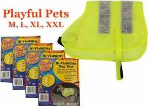 Hi-Visibility Reflective Fluorescent Pet Dog Safety Vest Jacket by Playful Pets