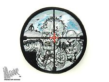 ill Gear Zombie Cross Hairs HOOK & LOOP Patch dead walking  Apocalypse Survival