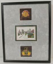1996 Atlanta Summer Olympic Games Pins Set Atl Skyline 3D Art Matted Framed 8X10