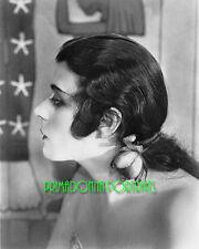 THEDA BARA 8X10 Lab Photo B&W 1920s Profile Glamour Gal, SIlent Era Portrait