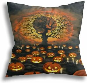 Halloween Throw Pillow Cover 18×18 inch Couch Cushion Double Sided