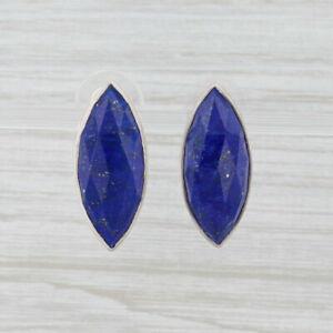 New Nina Nguyen Lapis Lazuli Earrings Sterling Silver Blue Stone Drop