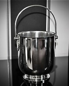 Christofle Coll.Gallia Silver Plated Ice, Wine, Champagne Bucket, Signed, Mint