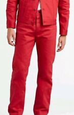 Levis 501 Shrink to Fit Jeans Red Dahlia 36 x 32 Button Fly Straight Leg