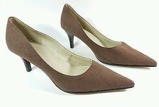 m & s damen braun stoff heels einmal getragen uk 6 eu 39