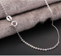 GENUINE 925 Sterling Silver Solid 1MM Link Chain Necklace for Pendant Stunning