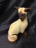 Hand Painted Figure Of A Siamese Cat