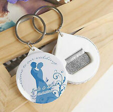 100pcs Personalized Wedding Favors Bottle Opener & Keychain Wedding Guest Gifts