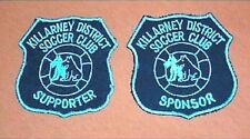 #D102. Two Killarney Soccer Football Club Patches