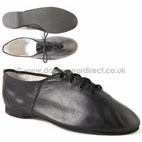 Bloch Black Leather Full Sole Jazz Dance Shoes Essential Girls Ladies S0462