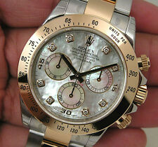 Rolex DAYTONA 116503 Mens Steel & Gold White Mother Of Pearl Diamond Dial 40MM