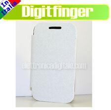 CUSTODIA ULTRA SLIM libro per Samsung S5360 Galaxy Y Eco PELLE Bianco Flip Cover