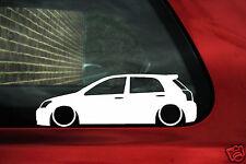 2x LOW Toyota e120 Corolla 5 door T-Sport,Compressor car outline stickers