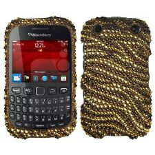Plastic Diamond Tiger Skin Cover Phone Protector Case for BlackBerry Curve 9310