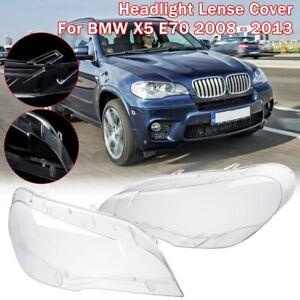 L&R Car Headlight Light Lamp Lenses Cover Lampshade For BMW X5 E70 2008-201 W