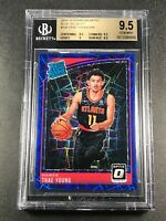 TRAE YOUNG 2018 DONRUSS OPTIC #198 BLUE VELOCITY REFRACTOR ROOKIE RC BGS 9.5
