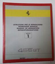 FERRARI 456 GT M MANUALE OFFICINA RIPARAZIONE WORKSHOP MANUAL REPRINT RISTAMPA 1