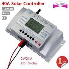 LCD 40A MPPT Solar Panel Regulator Battery Charge Controller 12V/24V USB 5V EH