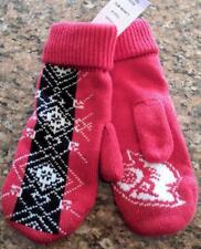 Lz Adidas One Size Louisville Cardinals Red Knit Fleece Lined Mitten Gloves New