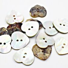 Lot 10 36L 23mm Heart Real Pearl Shell Button Crafts Project Art Sewing DIY