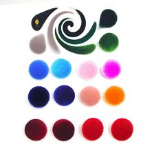 set Velvet fabric Buttons 25mm. Garment accessories Toys School Party Craft Gift