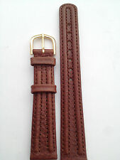 CINTURINO Correa Strap WATCH PELLE VERY VINTAGE MARRONE OROLOGIO UHR 16 MM GA39