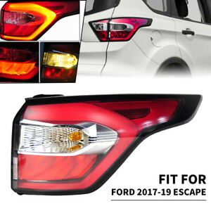 Right Outer Side Tail Light Brake Lamp For Ford Escape Kuga 2017 18 2019 w/ Blub