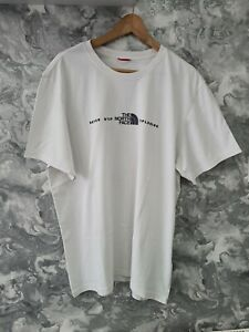 The North face never stop exploring white t shirt