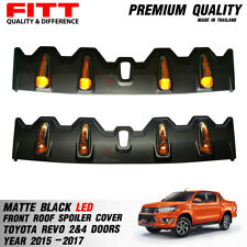 Matte Black Front Roof Spoiler Cover With LED TOYOTA HILUX REVO PICKUP 2015-2017