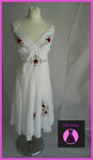 Vintage White Summer Dress Uk size 12 Beach Cover Up