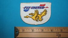 RARE 70S JOKE FUNNY FLY UNITED FLYING GOOSE GEESE DUCK SEX AIRLINE PATCH CREST