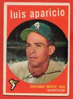 1959 Topps #310 Luis Aparicio VG-VGEX+ WRINKLE MARKED Chicago White Sox FREE S/H